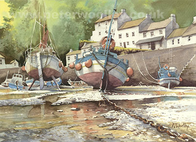 Low Tide, Lynmouth - harbour and boats